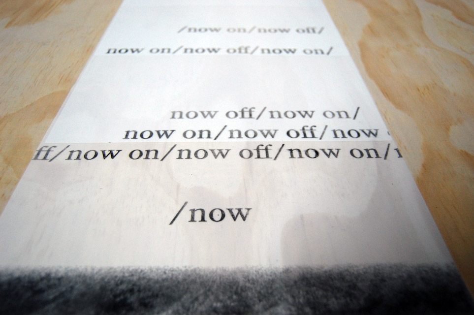 Carol Todaro and Peter Borrebach, Idiopa(g)ean A Brok(op)en Form Page Song (excerpt from a set of nine books), 2010 ; Hasty Show, Turn-Based Press, 2013