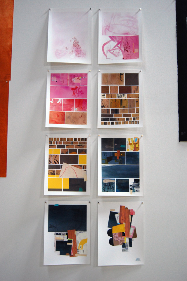 Warren Craghead, pages from Un Caligramme; Hasty Show, Turn-Based Press, 2013