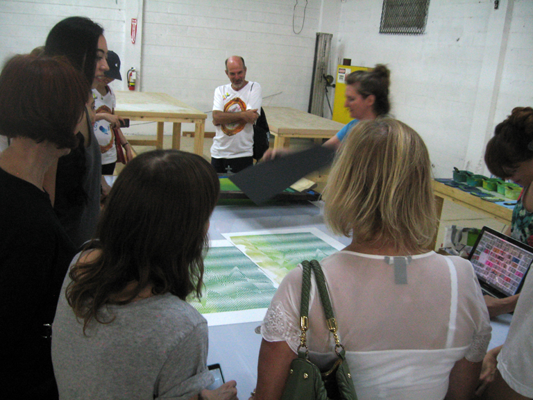 Live Printing with the TM Sisters at Turn-Based Press during DWN