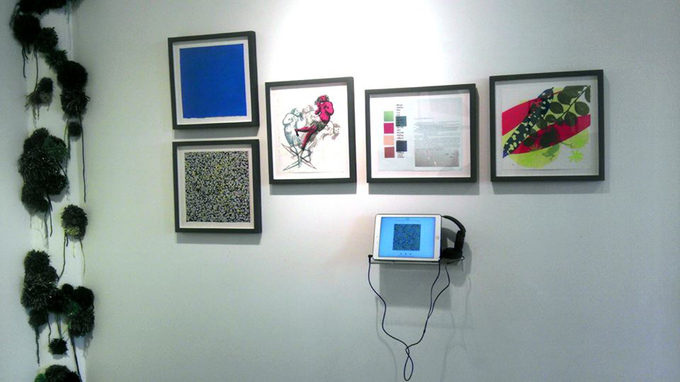 Prints by Thom Wheeler Castillo and Emile Milgrim; installation by Krel Levy.